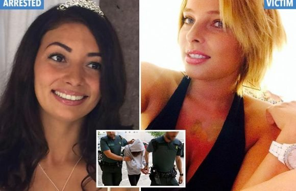 Brit woman marched into court in handcuffs after 'trying to kill ex's new girlfriend in Magaluf hit-and-run'