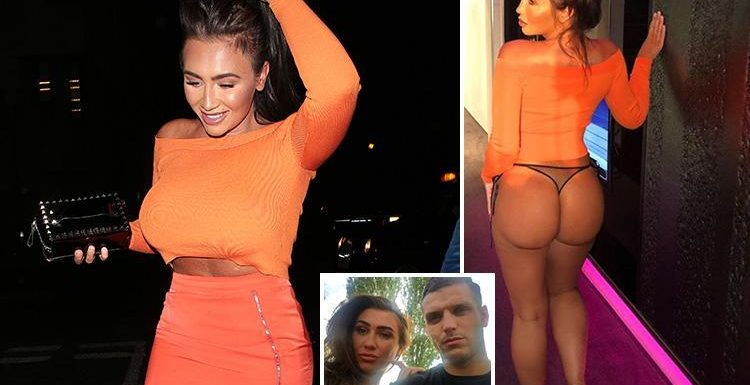 Lauren Goodger strips to thong after night out celebrating boyfriend Joey Morrisson's release from prison