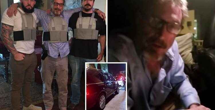 John McAfee is on the run AGAIN in motorcade with armed guards as anti-virus pioneer fears US government is out to get him