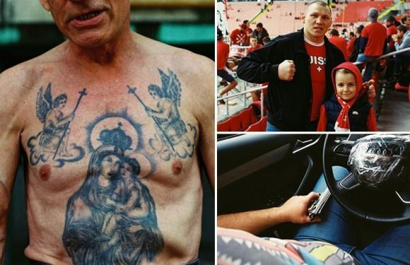 Incredible images reveal life inside Moscow's gritty underworld where hardcore football fans and bare knuckle boxers rule the streets