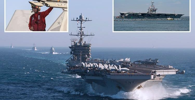 Russian warship loaded with warplanes and missiles is stalking America's USS Harry S Truman in Med