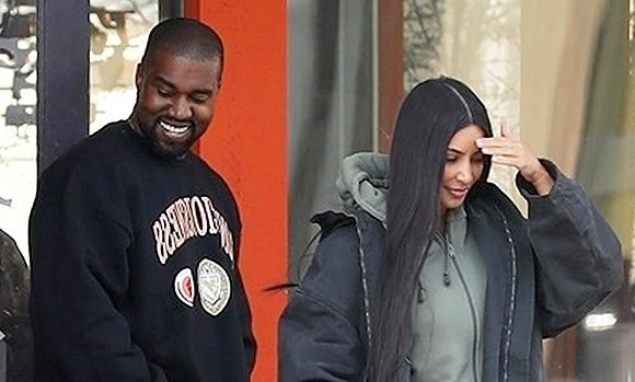 Kanye West Has The Biggest Smile On His Face While Reuniting With Kim In Wyoming — Pics