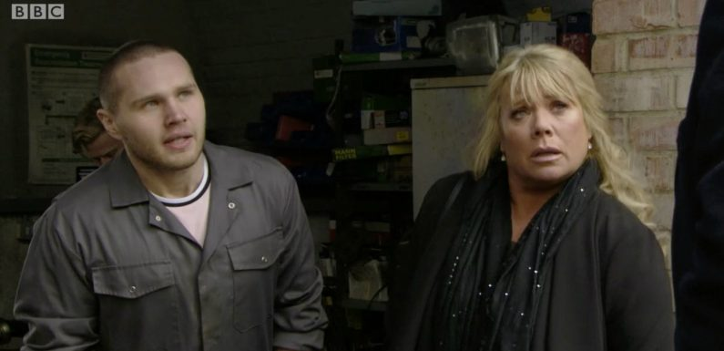 With Ingrid gone Eastenders fans are convinced a Sharon and Keanu romance is on the cards