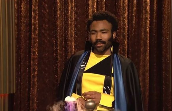 Donald Glover gives Saturday Night Live viewers a first taste of his Lando Calrissian in action