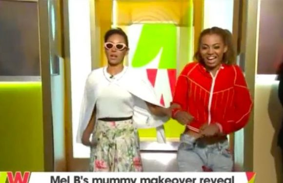 Mel B gets annoyed with daughter's 'make under' on Loose Women