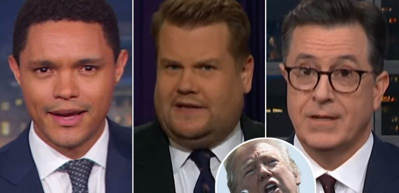 Late-Night Stars Marvel at Trump's Baffling Vow to Hunt Down Leaker 'Cowards and Traitors' That Don't Exist