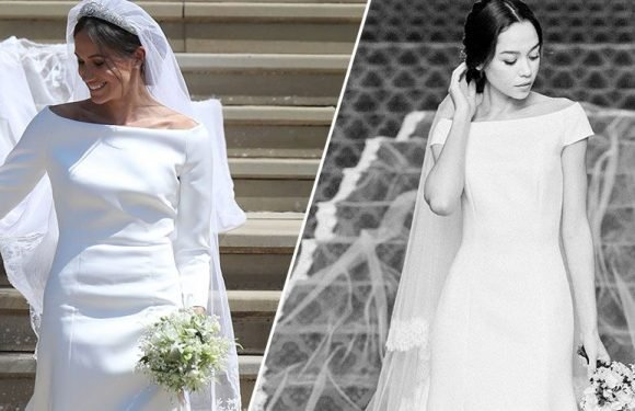 The Real Story Behind the Meghan Markle Wedding Dress Copycats You're About to See Everywhere