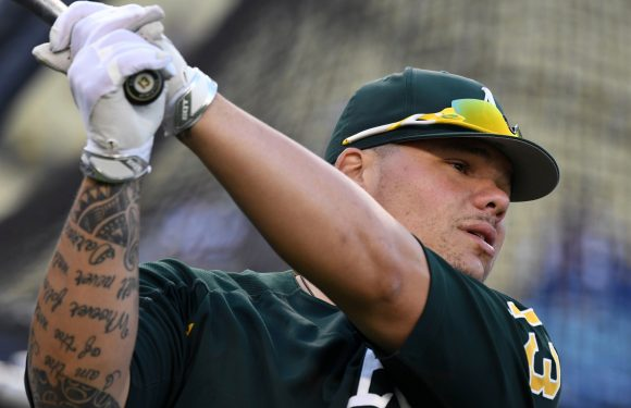 Controversial A's catcher can't enter Canada for Blue Jays games