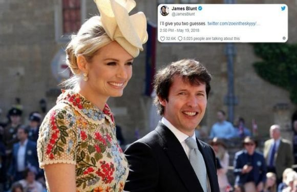 James Blunt hits back at Twitter fan who asked 'who invited him to the wedding?' – and his reply is hilarious