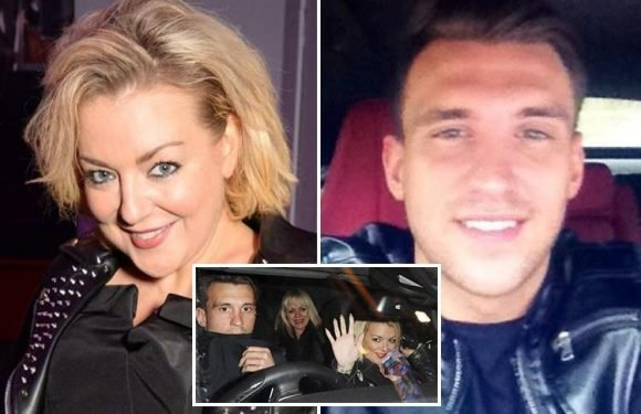 Sheridan Smith, 36, is 'hopelessly in love' with her Tinder toyboy fiance, 28, claims his mum