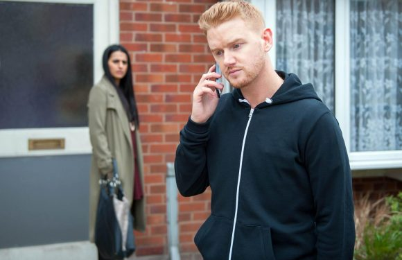 Coronation Street's Gary Windass in danger as he tracks down killer Pat Phelan to campsite in Wales