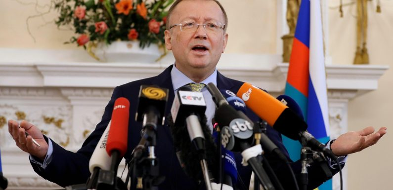 Russian ambassador compared to 'Comical Ali' after claiming UK was behind Skripal poisoning to turn the world against the Kremlin