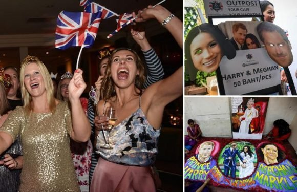 People around the globe throw Royal Wedding parties and tune in to watch Prince Harry and Meghan Markle tie the knot