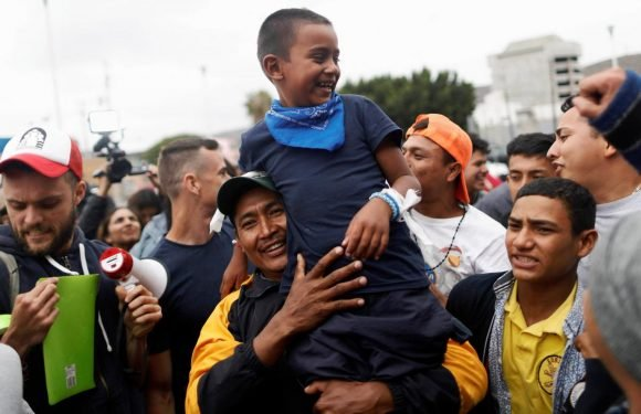 Eight women, children from Central American 'caravan' first to…