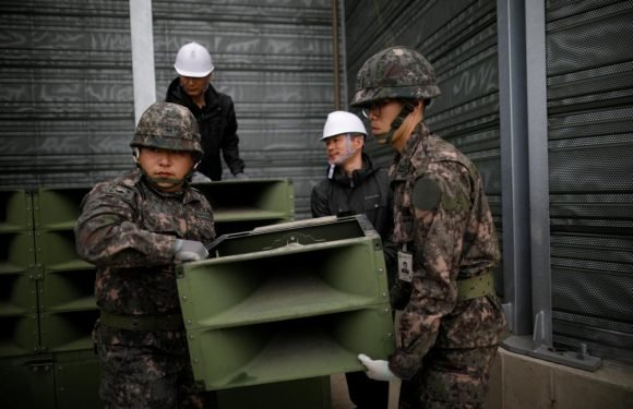 North and South Korea start to dismantle border speakers,…