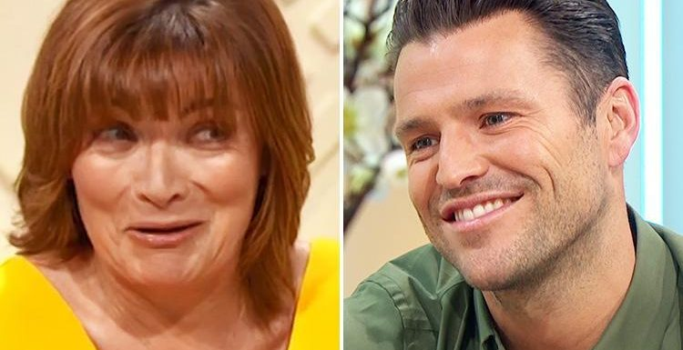 Cheeky Lorraine Kelly tells Mark Wright to 'use his imagination' ahead of his 'leather' wedding anniversary with Michelle Keegan