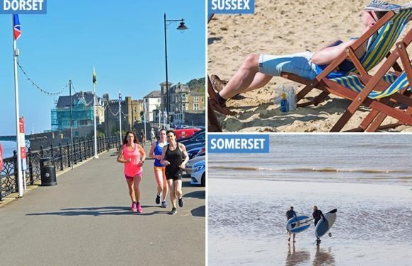 UK weather set for heatwave as thousands of Brits hit the beach on the hottest May Day bank holiday in 40 YEARS