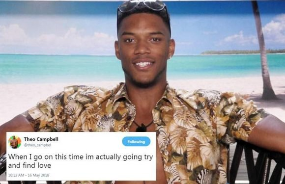 Love Island's Theo Campbell hints he's returning to the villa to find love again after failing last year