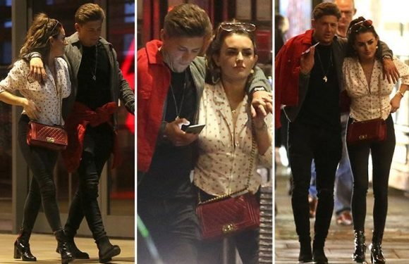 Love Island's Amber Davies enjoys a date night with new man James Hawkins in London