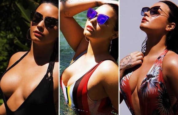 Demi Lovato models new sunglasses range – but nobody is looking at her shades