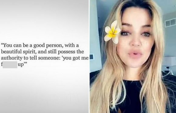 Khloe Kardashian shares cryptic message about feeling 'f***** up' amid 'rows' with 'cheat' Tristan Thompson