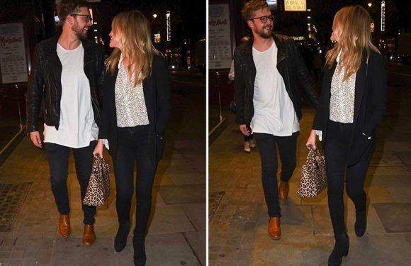 Love Island's Iain Stirling enjoys his last date night with Laura Whitmore before jetting off to film in Majorca