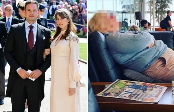 Suits' Patrick J Adams slammed for 'shaming' a woman who criticised his Royal Wedding pictures with a snap of her sleeping