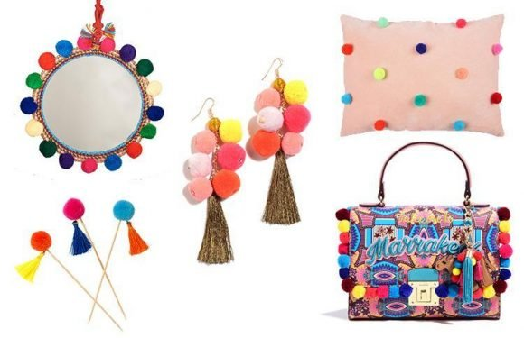 Shake your pompoms in style with colourful cushions and flamboyant bags