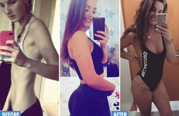 Anorexia survivor who refused to sit down and ate one tiny meal of chickpeas a day saw weight plummet to six stone… but says fitness bug saved her