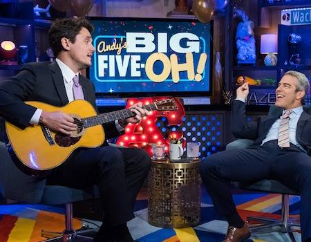 John Mayer Takes the Reins for Andy Cohen's WWHL Birthday Bash