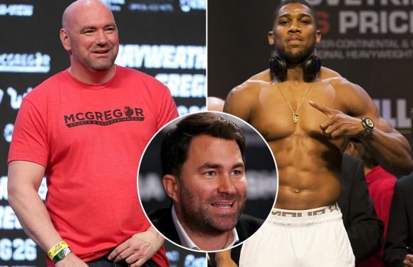 UFC president Dana White denies he tried to steal Anthony Joshua from Eddie Hearn and dismisses reported £350m offer