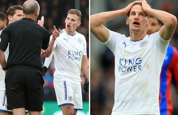 Marc Albrighton fined £25,000 and will miss Leicester's final two games of the season after accepting misconduct charge