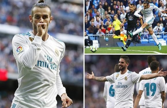 Real Madrid 6 Celta Vigo 0: Gareth Bale scores twice as injured Cristiano Ronaldo misses out