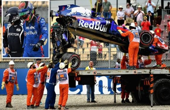 Spanish Grand Prix: Brendon Hartley suffers horror 160mph crash in final practice session before qualifying