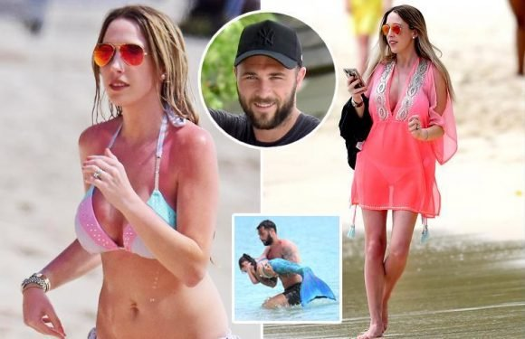 Southampton striker Charlie Austin's daughter dresses as mermaid as she plays with dad on Barbados holiday