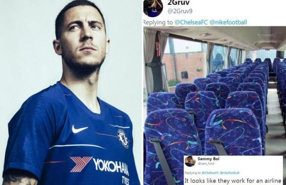 Chelsea unveil new home kit for the 2018-19 season… and fans really aren't happy, comparing it to bus seats
