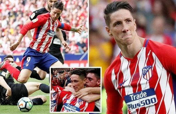 Fernando Torres scores twice in fitting farewell as Atletico Madrid pay tribute to legend in his final appearance for the club