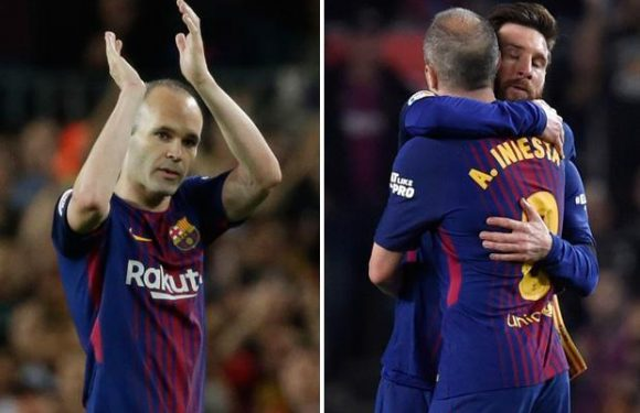 Barcelona icon Andres Iniesta walks off to a standing ovation in his last Clasico in Real Madrid draw