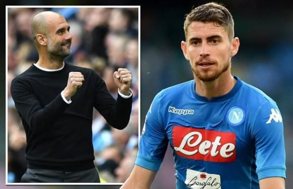 Man City target Jorginho to hold crunch talks with Napoli next week over £52m switch
