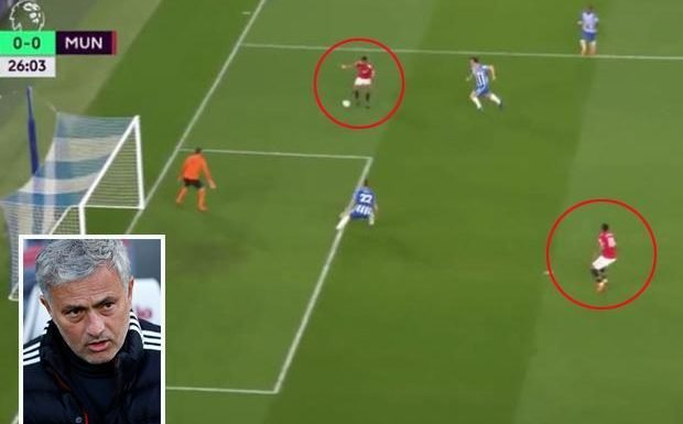 Marcus Rashford fails to square ball to Anthony Martial and Jose Mourinho's face says it all