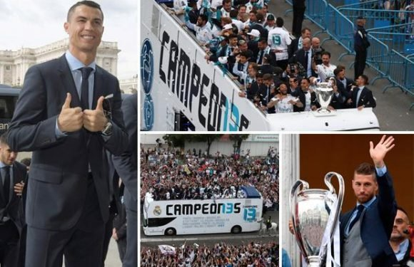 Cristiano Ronaldo has haircut for Real Madrid's Champions League victory bus parade