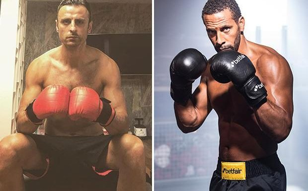 Dimitar Berbatov jokes he is 'taking over' in boxing ring after Rio Ferdinand fails to get fight licence