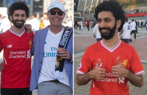 Mo Salah lookalike turns up for Champions League final clash against Real Madrid in Kiev