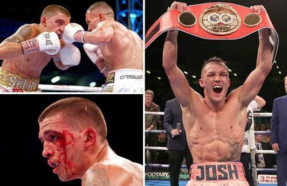 Selby vs Warrington result: Josh Warrington wins IBF world featherweight title after bloody British battle in Leeds
