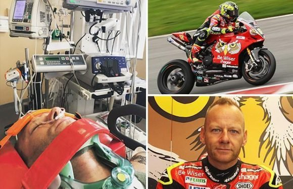 Superbike star Shane Byrne 'in good spirits' after surgery following brutal crash