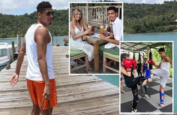 Chris Smalling stays fit on holiday with Muay Thai boxing – so is he hoping for England call?
