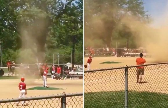 Watch the incredible moment a tornado delays Little League baseball game in Illinois