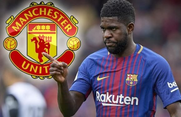 Manchester United target Samuel Umtiti says he will only leave Barcelona in summer if they 'throw him out the door'