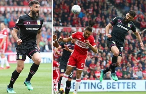 Middlesbrough 0 Aston Villa 1: Mile Jedinak heads the only goal of the game to hand visitors slim play-off advantage