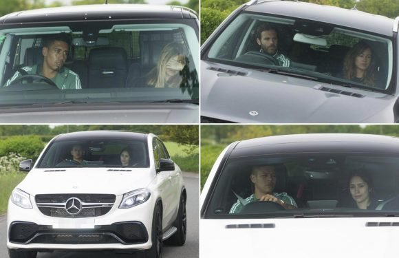 Manchester United players bring Wags with them to training ahead of FA Cup final against Chelsea